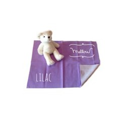 Mellow Quick dry ผ้ารองกันฉี่ ผ้ารองกันน้ำ 100% SIZE S (50x70 CM) Lilac