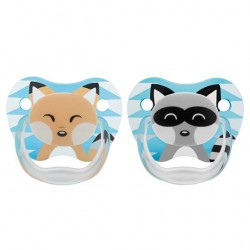Dr Brown Teethers Pacifier 0-6 month (Fox/Raccon)