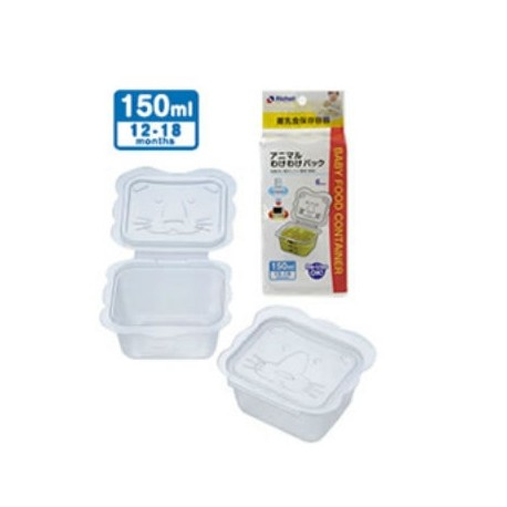 Richell Animal-Shaped Container 150 ml (6 pcs)