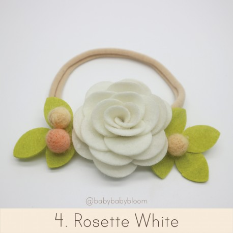 Babybloom Rosette White