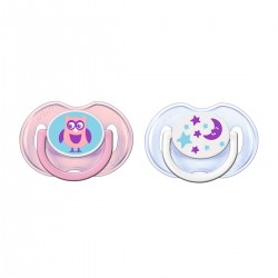 Avent Soother Fashion 0-6m twin pack (2 piece) Pink