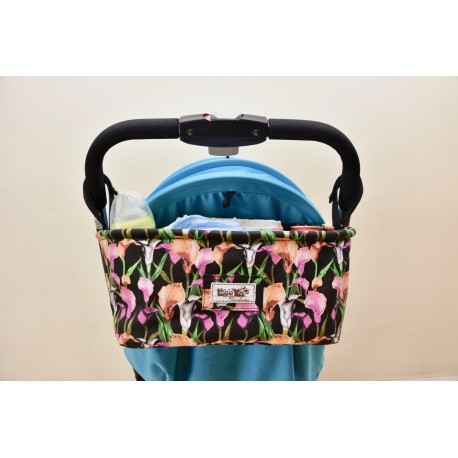 Leeya Storage Bag for Stroller - Orchids