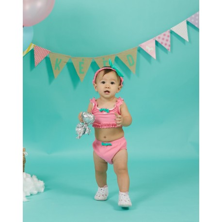 KEED Zebra Circus (ZC-182) Top, Nappy pant and headband (3 pieces)