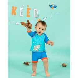 KEED Sunscreen swimwear 2 pieces Teddy Pilot (TP-182)