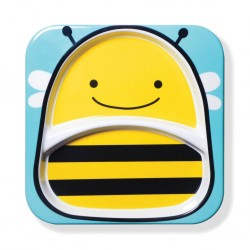 Skip Hop Zoo Divided Plate Bee Style