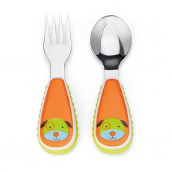 Skip Hop Zoo Tensils Fork & Spoon Dog