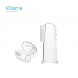 Kidsme Silicone Finger Toothbrush & Gum Massager with box
