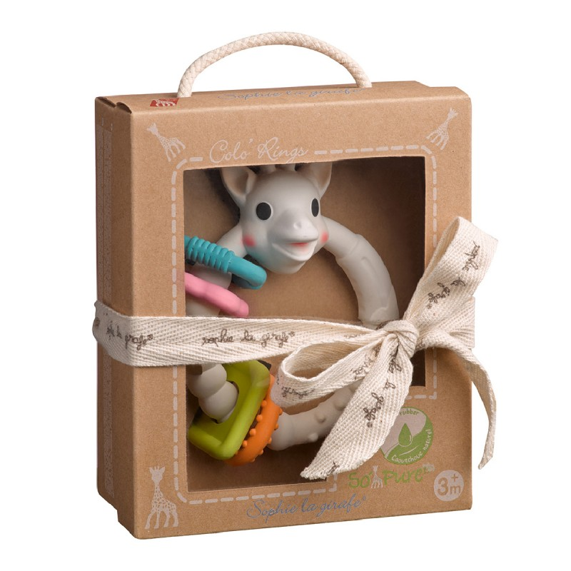 Sophie the Giraffe Teething Ring Babies Presented in a Gift Box 100/% natural