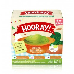 HOORAY! Chicken&Vegetable Puree 140g.