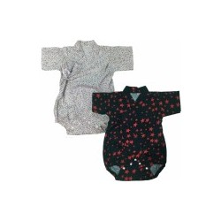 Palm & Pond Japan Style Newborn Suite JINBEI 100% Cotton 2 Pack No.3