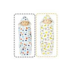 Palm & Pond Cloth Diapers 100% Cotton with Hoods set 2 no.23