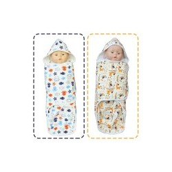 Palm & Pond Disposable Cloth Diapers 100% Cotton with hoods set 2 no.27
