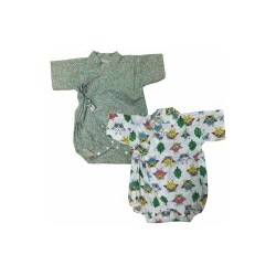 Palm & Pond Japan Style Newborn Suite JINBEI 100% Cotton 2 ea/pack no.6