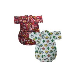 Palm & Pond Japan Style Newborn Suite JINBEI 100% Cotton pack 2 type 48