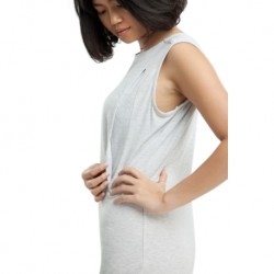 QueenCows ชุดให้นม : Trixie Neck Dress (White)