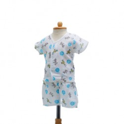 Shawn's Baby Short sleeve shirt with shorts Animal cartoon (size M)