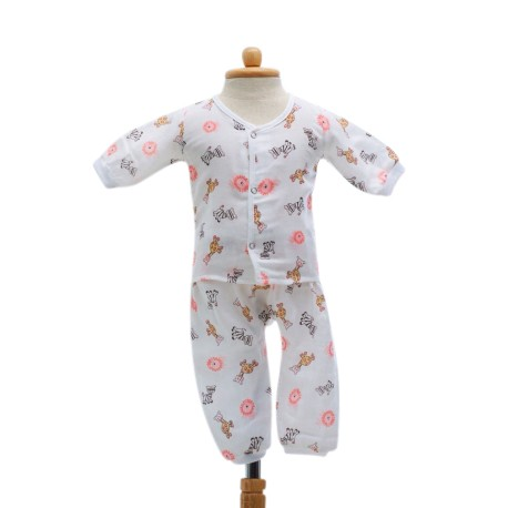 Shawn's Baby Long sleeved shirt with trousers Pink cartoon animals