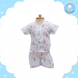 Shawn's Baby Short Shirt with Short Pants Sheep Cartoon Pink (size M)