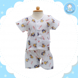 Shawn's Baby Short Shirt with Short Pants Bee Cartoon Red (size M)
