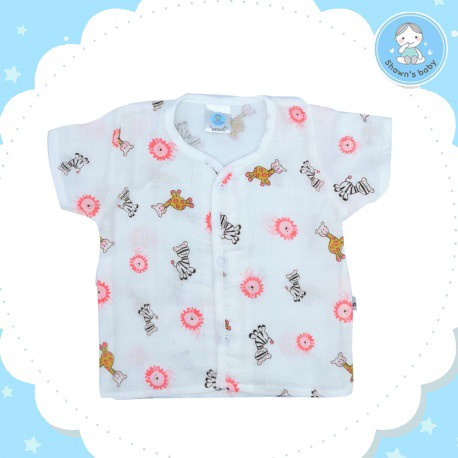 Shawn's Baby Short Sleeve Shirt Wild Cartoon (Pink)