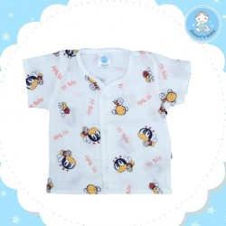 Shawn's Baby Short Shirt Bee Cartoon (Red)