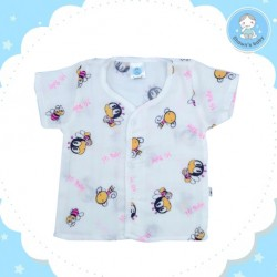 Shawn's Baby Short Sleeve Shirt Bee Cartoon (Pink)